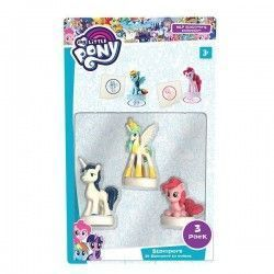 MY LITTLE PONY CUÑOS 3 FIGURAS
