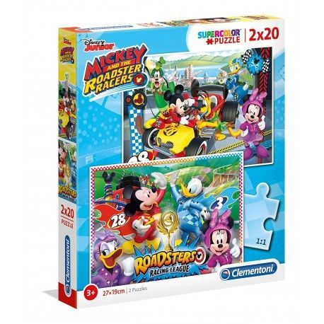 CLEMENTONI PUZZLE 2X20 PZAS MICKEY ROADSTER RACERS 07034