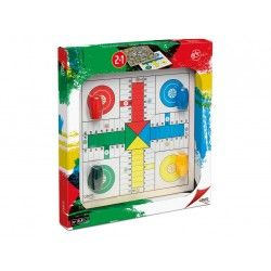 TABLERO 33X33X1 PARCHIS-OCA ACC. MAD. BLISTER