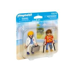 PLAYMOBIL DUO PACK DOCTORA Y PACIENTE 70079