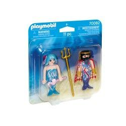 PLAYMOBIL DUO PACK REY DEL MAR Y SIRENA 70082