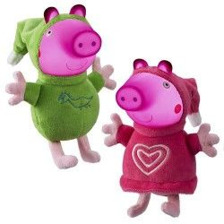 PELUCHES CON LUZ PEPPA PIG GLOW FRIENDS BANDAI 6887
