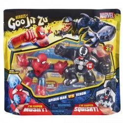 PACK 2 HEROES MARVEL GOO JIT ZU- SPIDERMAN VS VENOM